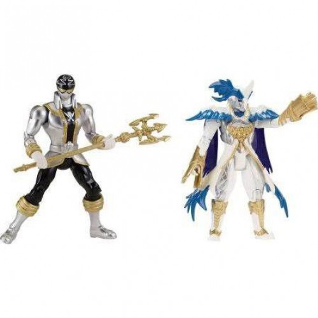 power rangers super megaforce good vs evil silver ranger prince vekar action figure 2 pack damaged package bandai america toywiz usd
