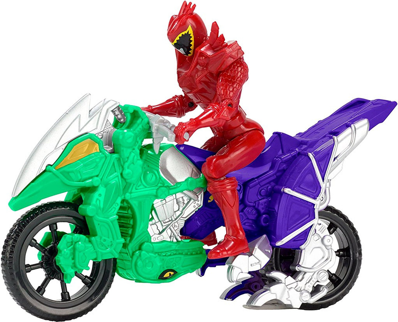 """Power Rangers Dino Charge Dino Cycle with 5/"""" Red Ranger Action Figure"""