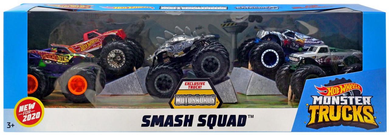 Hot Wheels Monster Trucks Smash Squad Diecast Car 5 Pack Mattel Toys Toywiz