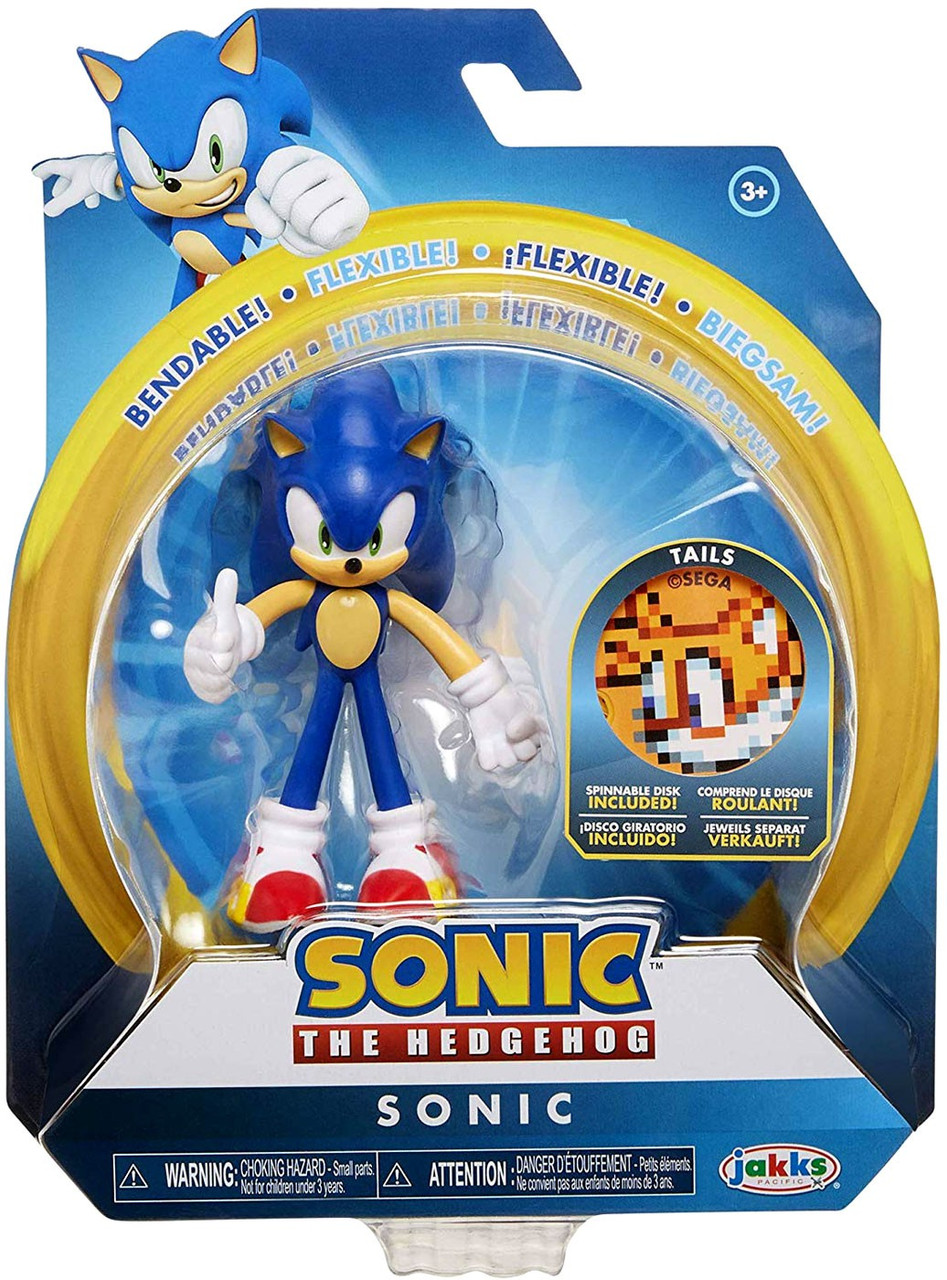 sonic the hedgehog basic series 2 sonic action figure tails spinnable disk