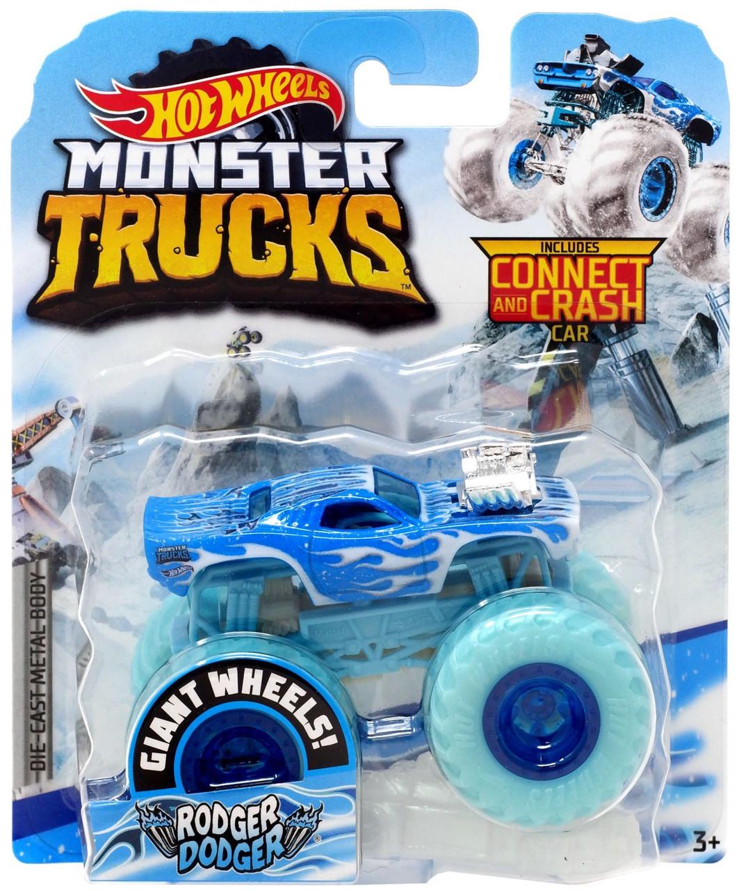 Hot Wheels Monster Trucks Blizzard Bashers Rodger Dodger 164 Diecast Car Mattel Toys Toywiz