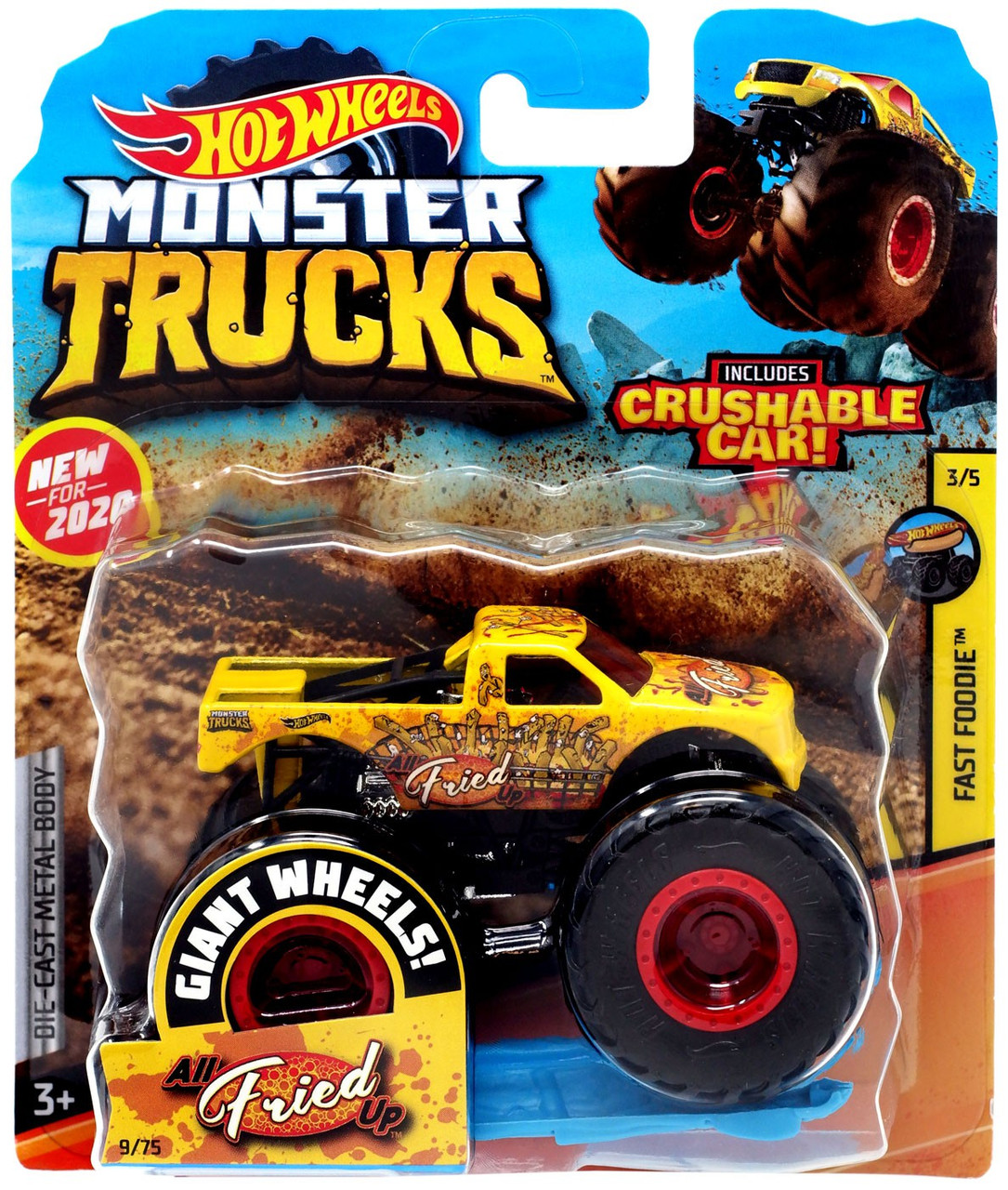 Hot Wheels Monster Trucks Fast Foodie All Fried Up 164 Diecast Car Mattel Toys Toywiz