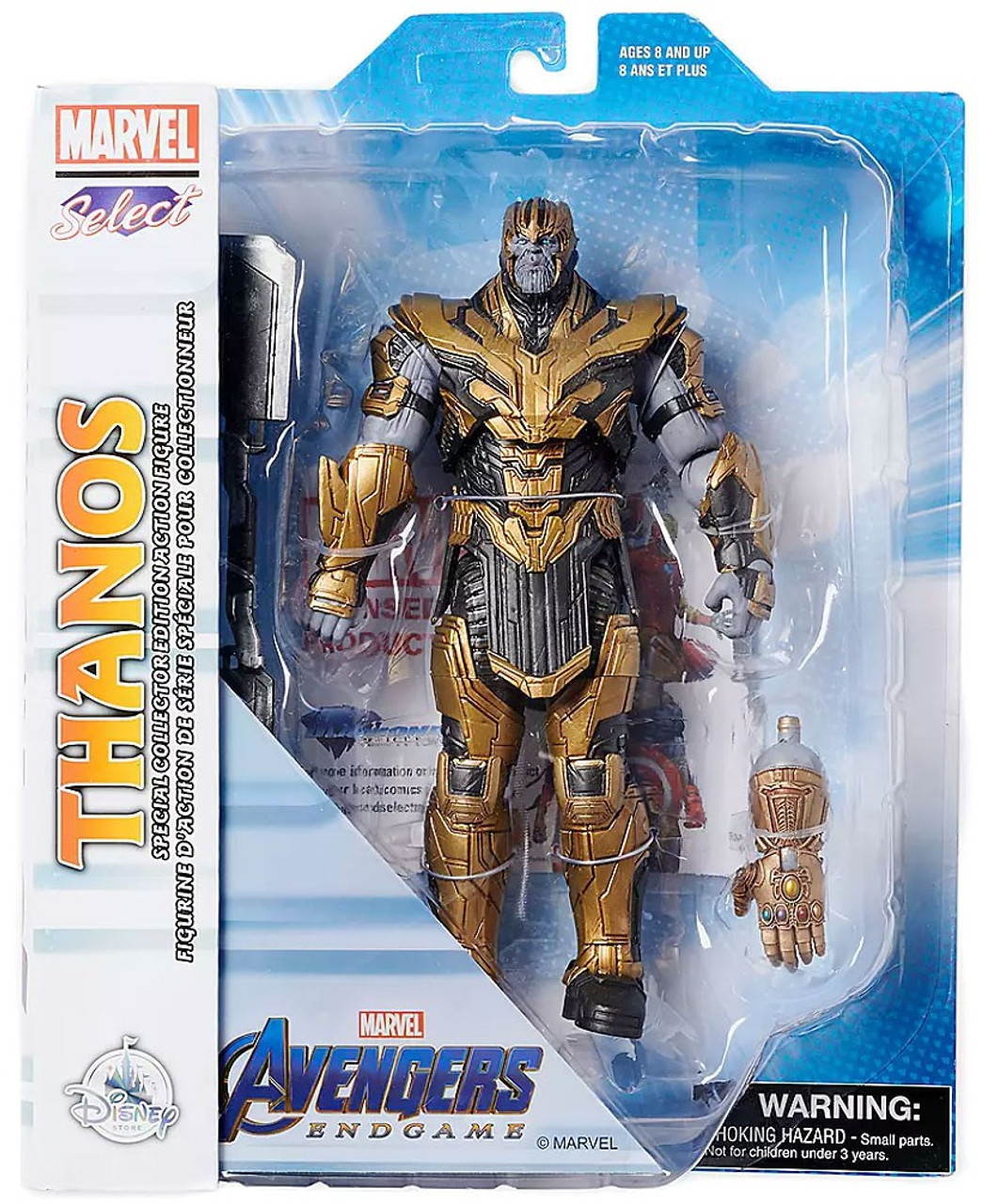 Diamond Select Toys Marvel Select Thanos figurine avec Infinity Gauntlet