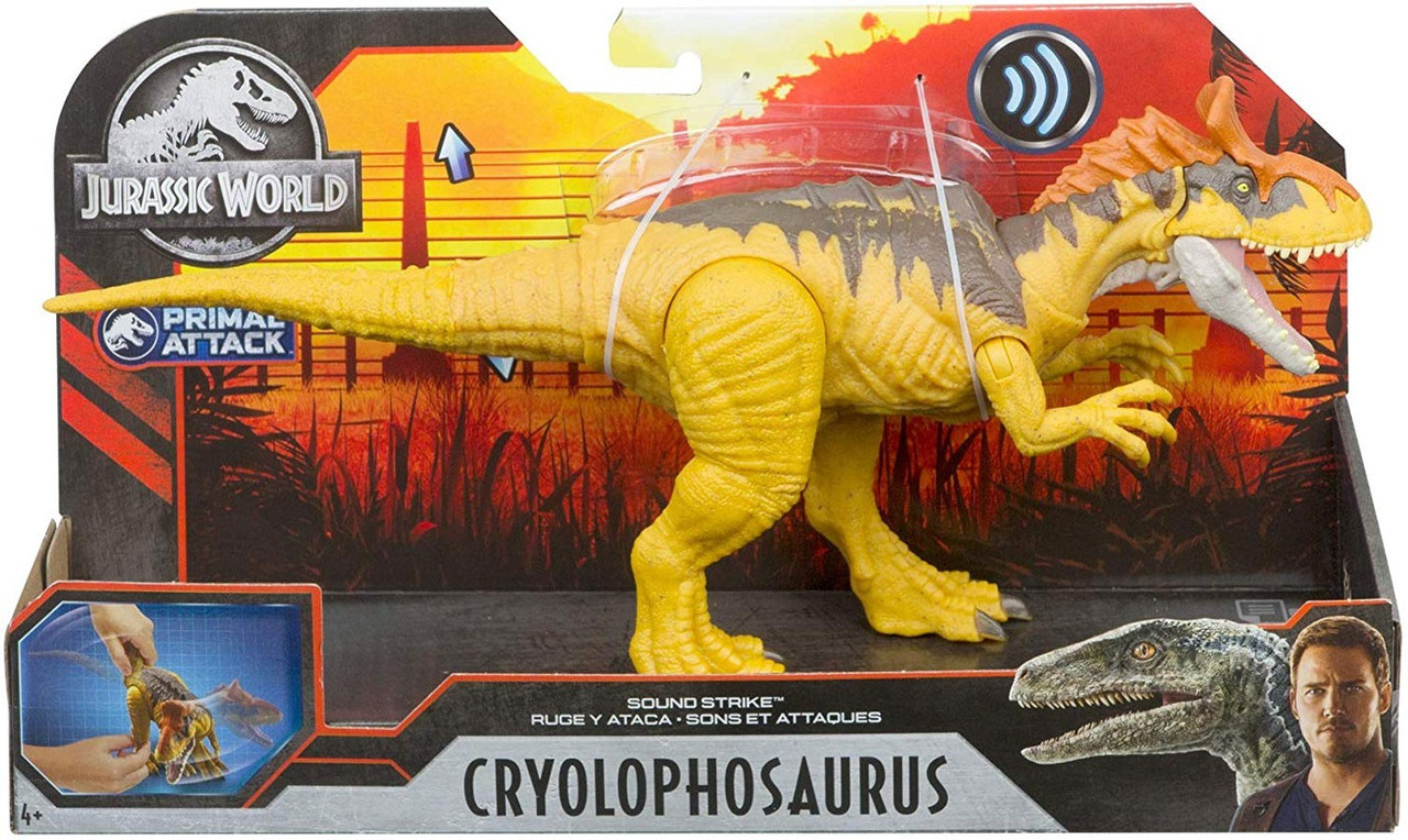 Jurassic World PARASAUROLOPHUS Camp Primal Attack Sound Strike Action Figure NEW