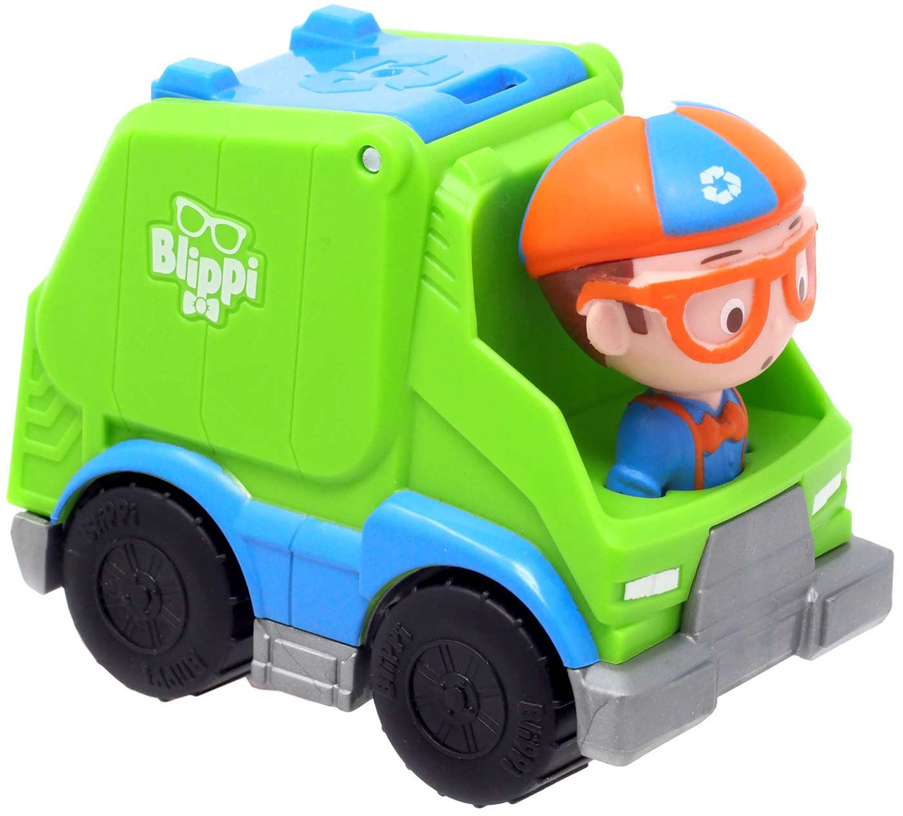 Action Toy Figures Blippi Mobile And Garbage Truck Blippi Mini Vehicle 2 Pack Toys Games Newid Com Sg