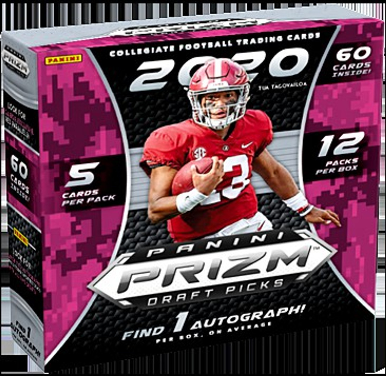 Collegiate Panini 2020 Prizm Draft Picks Football Exclusive Trading Card Mega Box 12 Packs 1 Autograph Toywiz