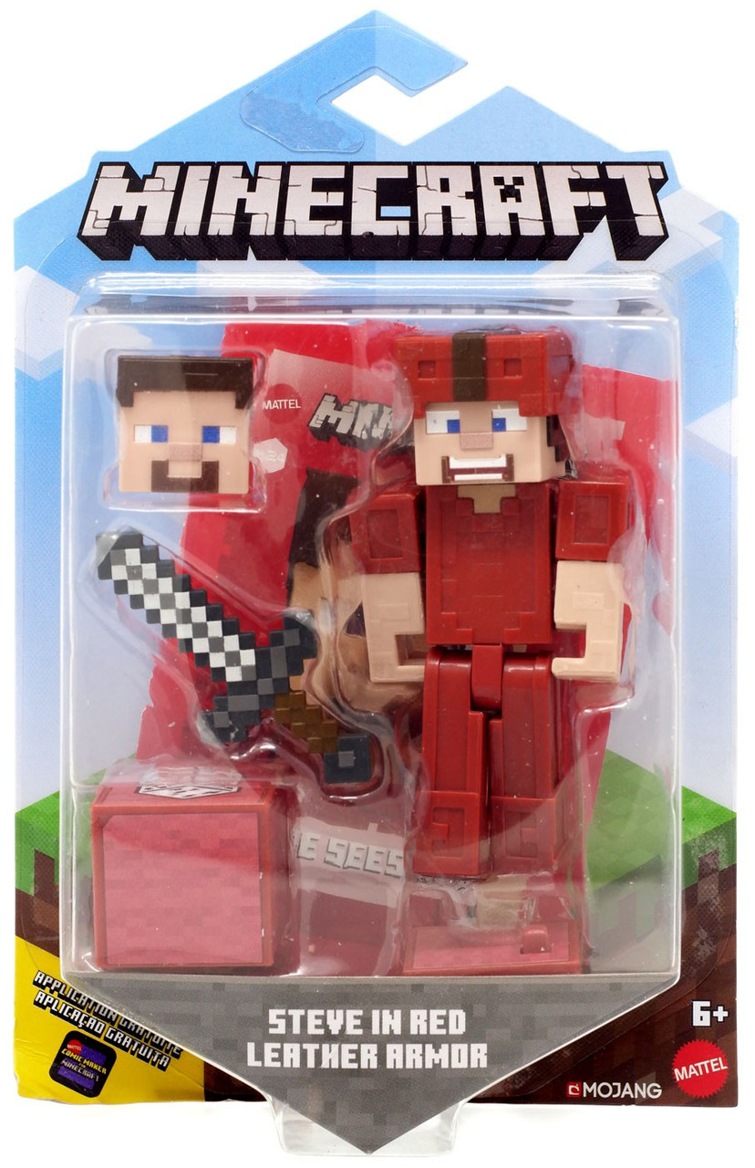 Minecraft Comic Maker Steve in Red Leather Armor 3 25 Action