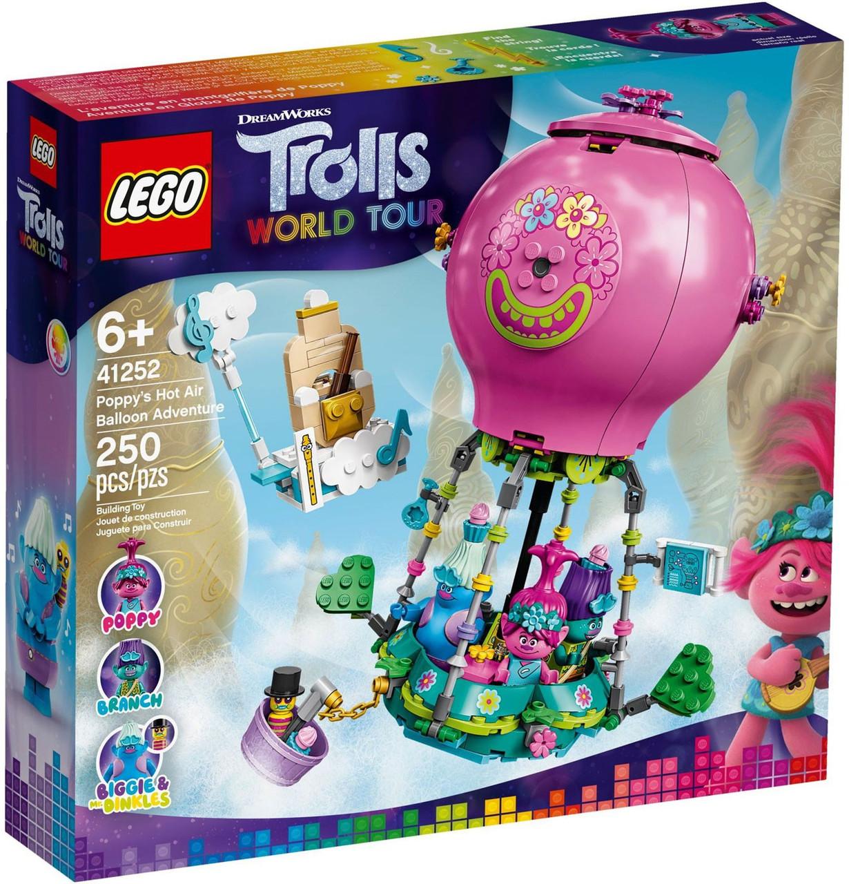 Lego Trolls World Tour Poppys Hot Air Balloon Adventure Set 41252