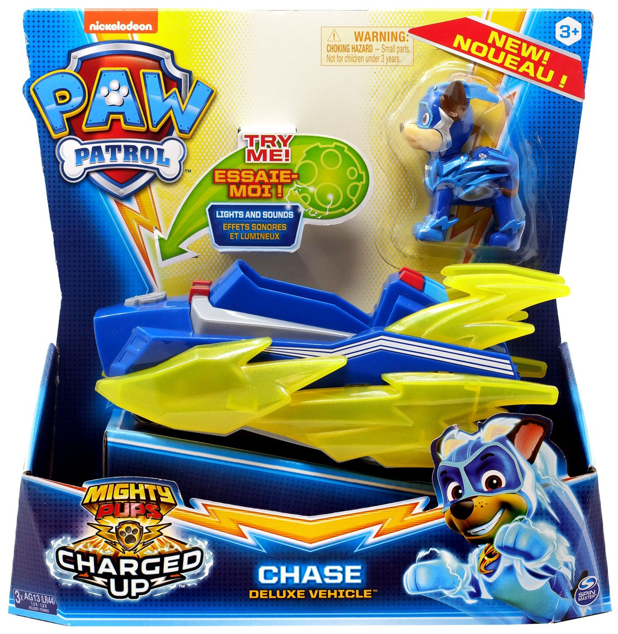 Paw Patrol Mighty Pups Charged Up Rubble Figure