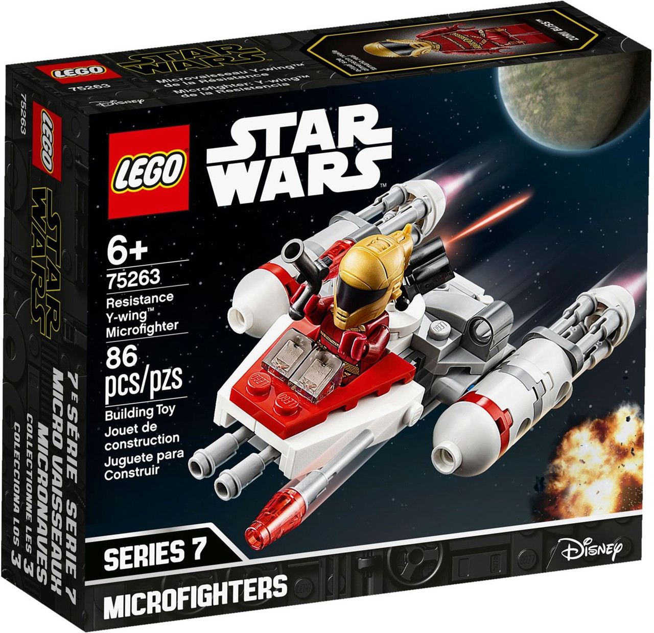 lego star wars microfighters series 7 resistance ywing