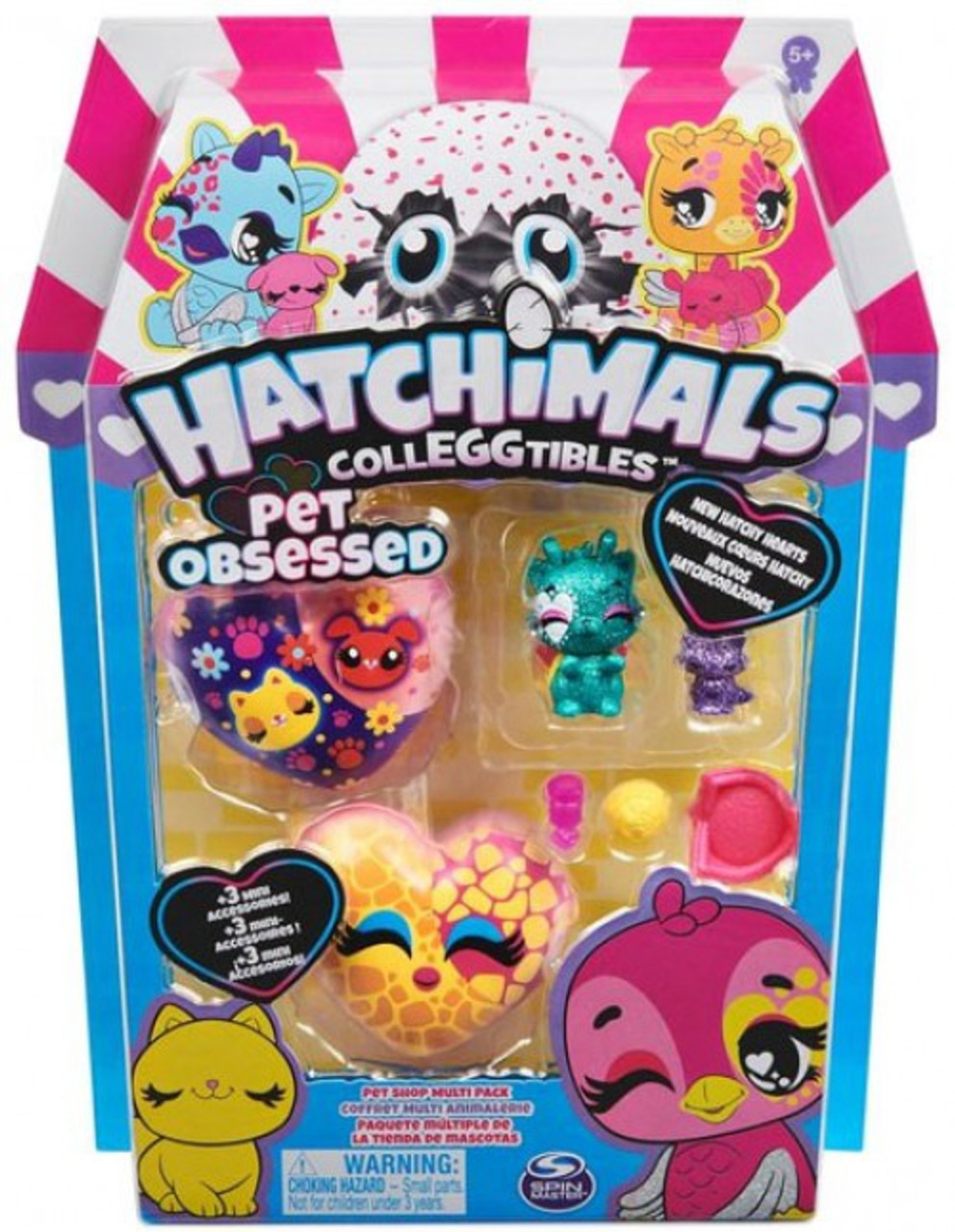 Hatchimals Colleggtibles Pet Obsessed Hummingbear /& Puppy