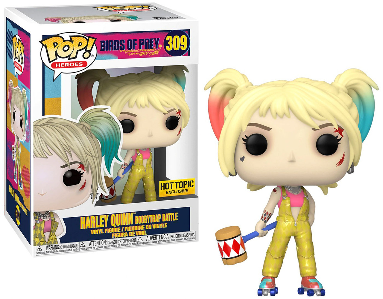 Funko Dc Birds Of Prey Pop Heroes Harley Quinn Boobytrap Battle Exclusive Vinyl Figure 309 Toywiz