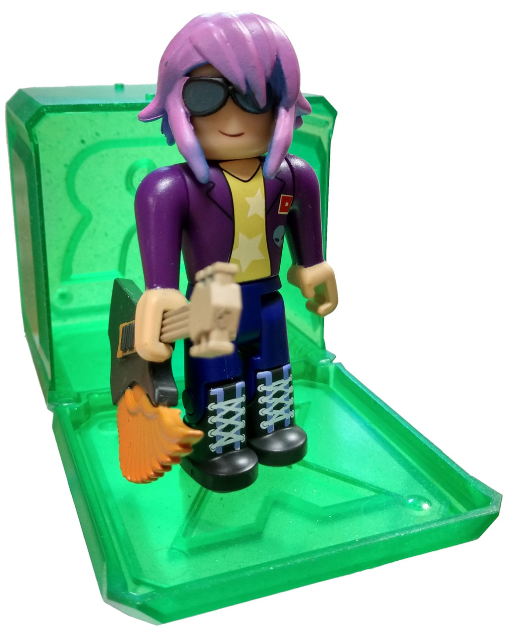 Ro Beats Roblox Roblox Celebrity Collection Series 4 Robeats Starlet 3 Mini Figure With Green Cube And Online Code Loose Jazwares Toywiz