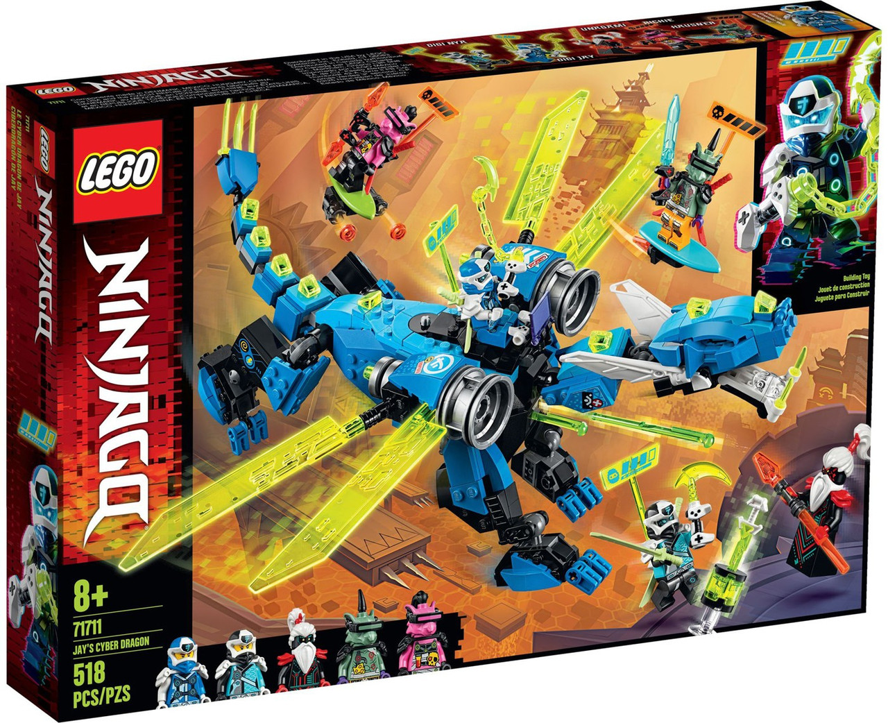 NINJAGO THE FINAL BATTLE set fits lego figure ZANES ICE DRAGON