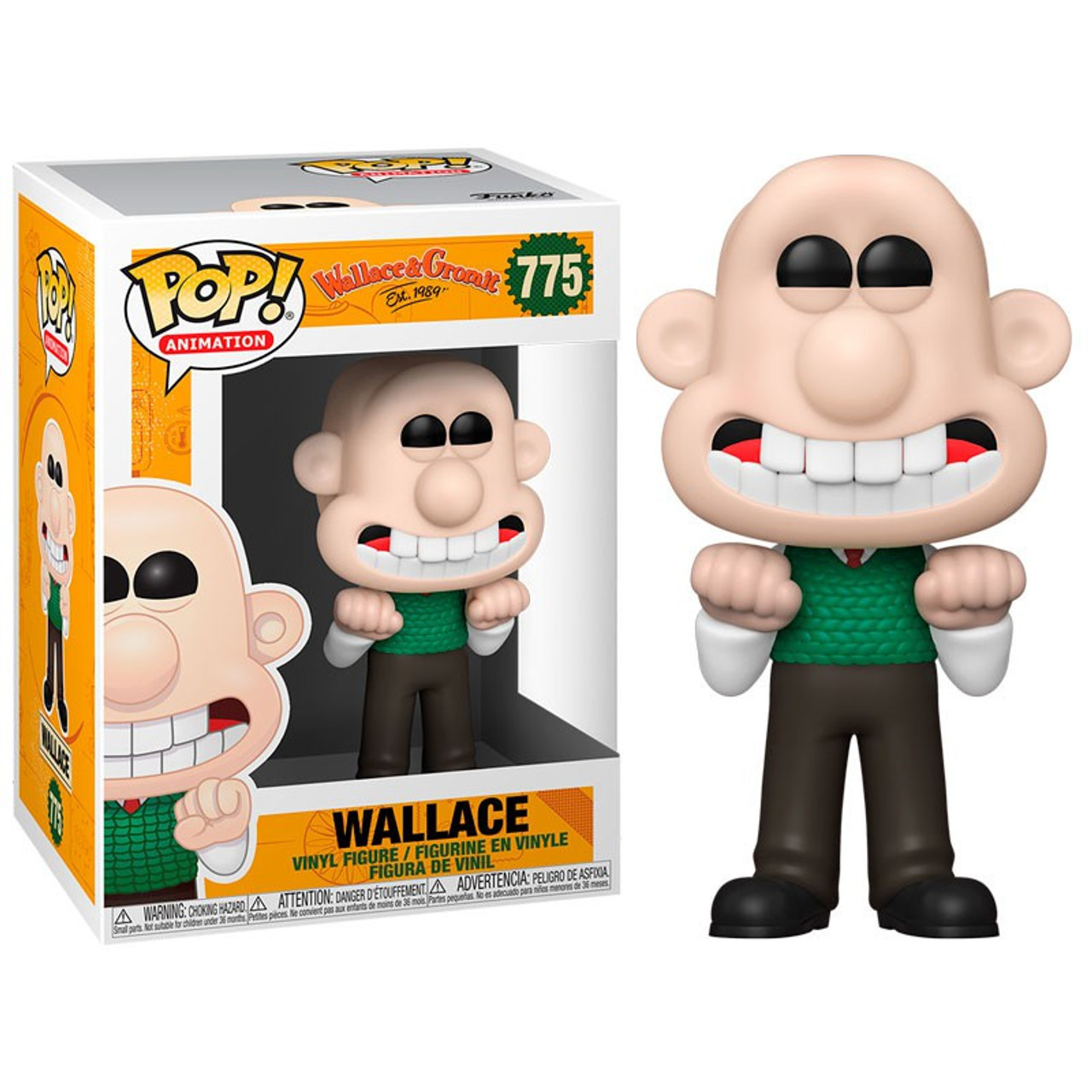 FUNKO POP WALLACE AND GROMIT WALLACE #775 VINYL FIGURE POP PROTECTOR