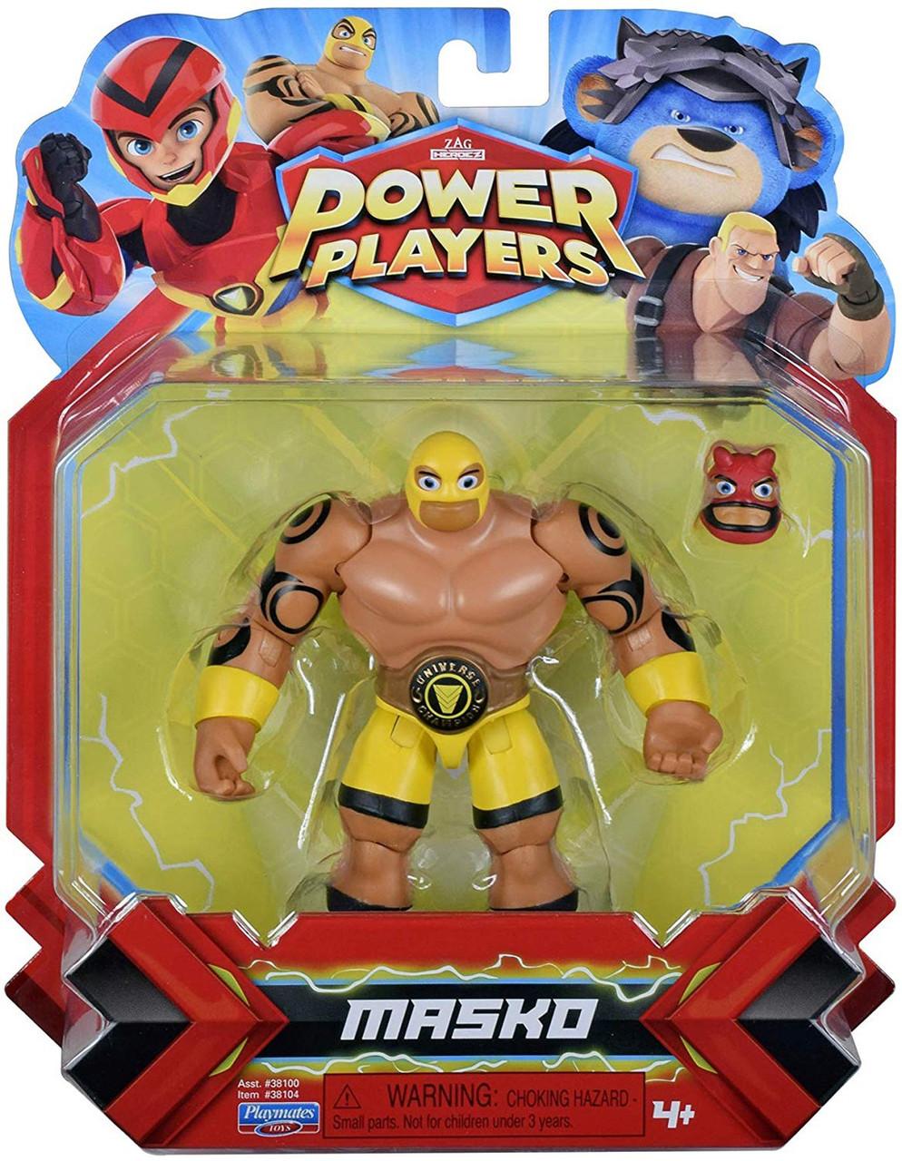 Zag Heroez Power Players Super Stretch Masko Action Figure