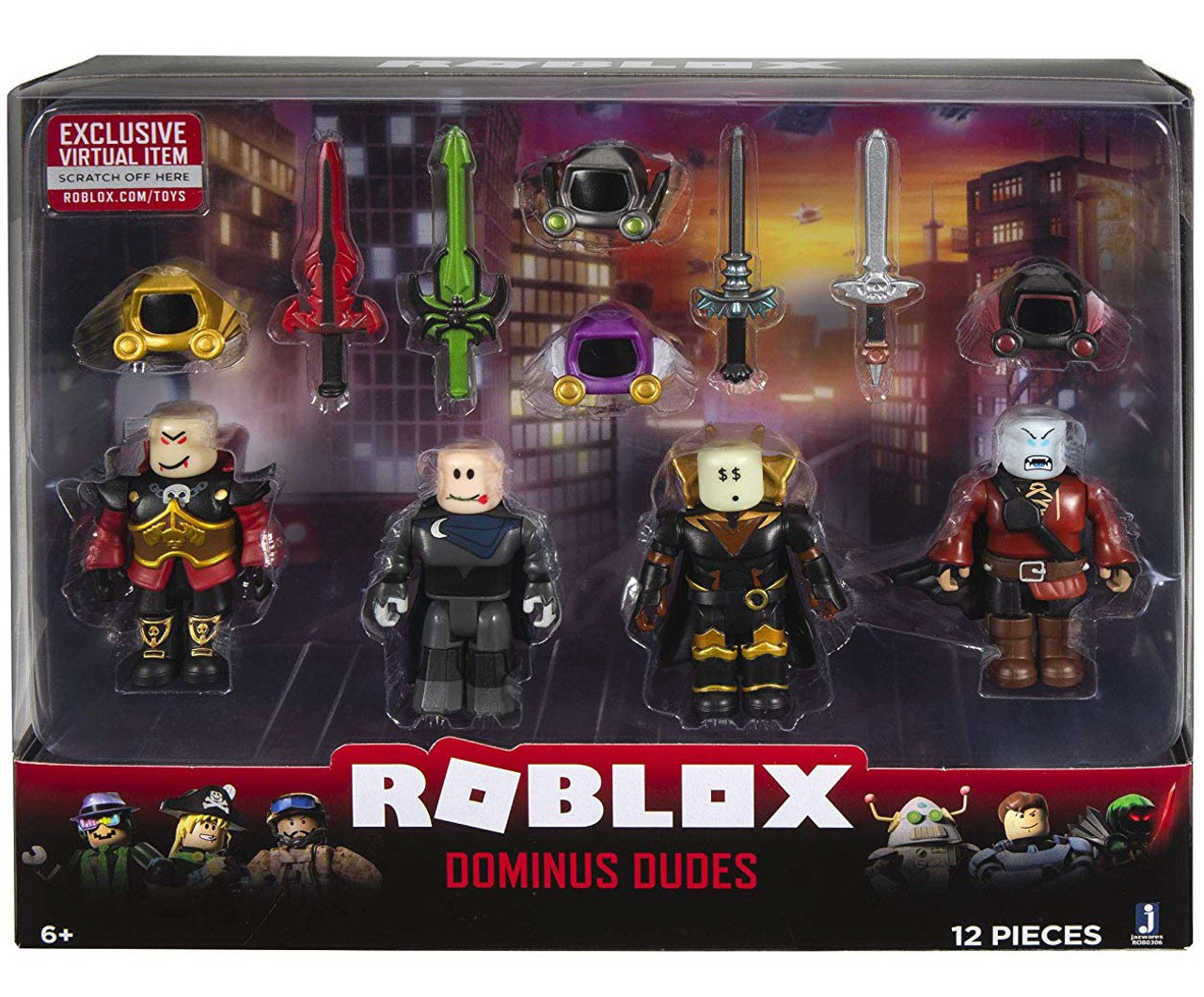 Roblox Mix Match Dominus Dudes 3 Figure 4 Pack Set Jazwares Toywiz