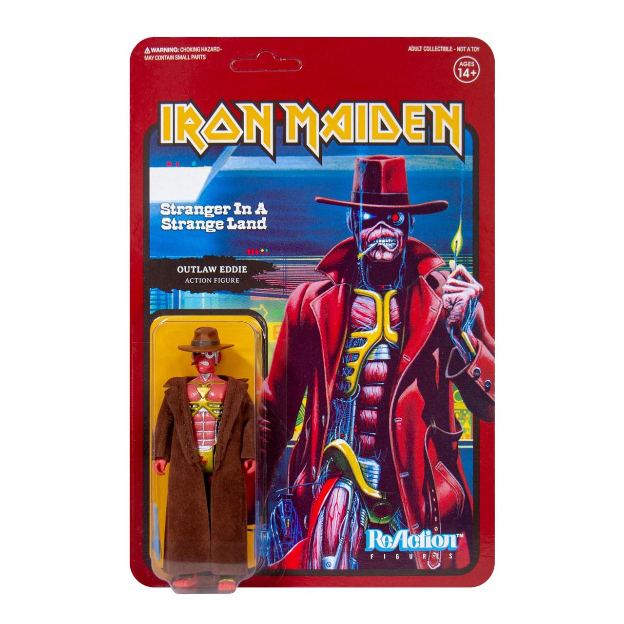 """Risen Live After Death Eddie Action Figure Toy ReAction 3.75/"""" * IRON MAIDEN"""