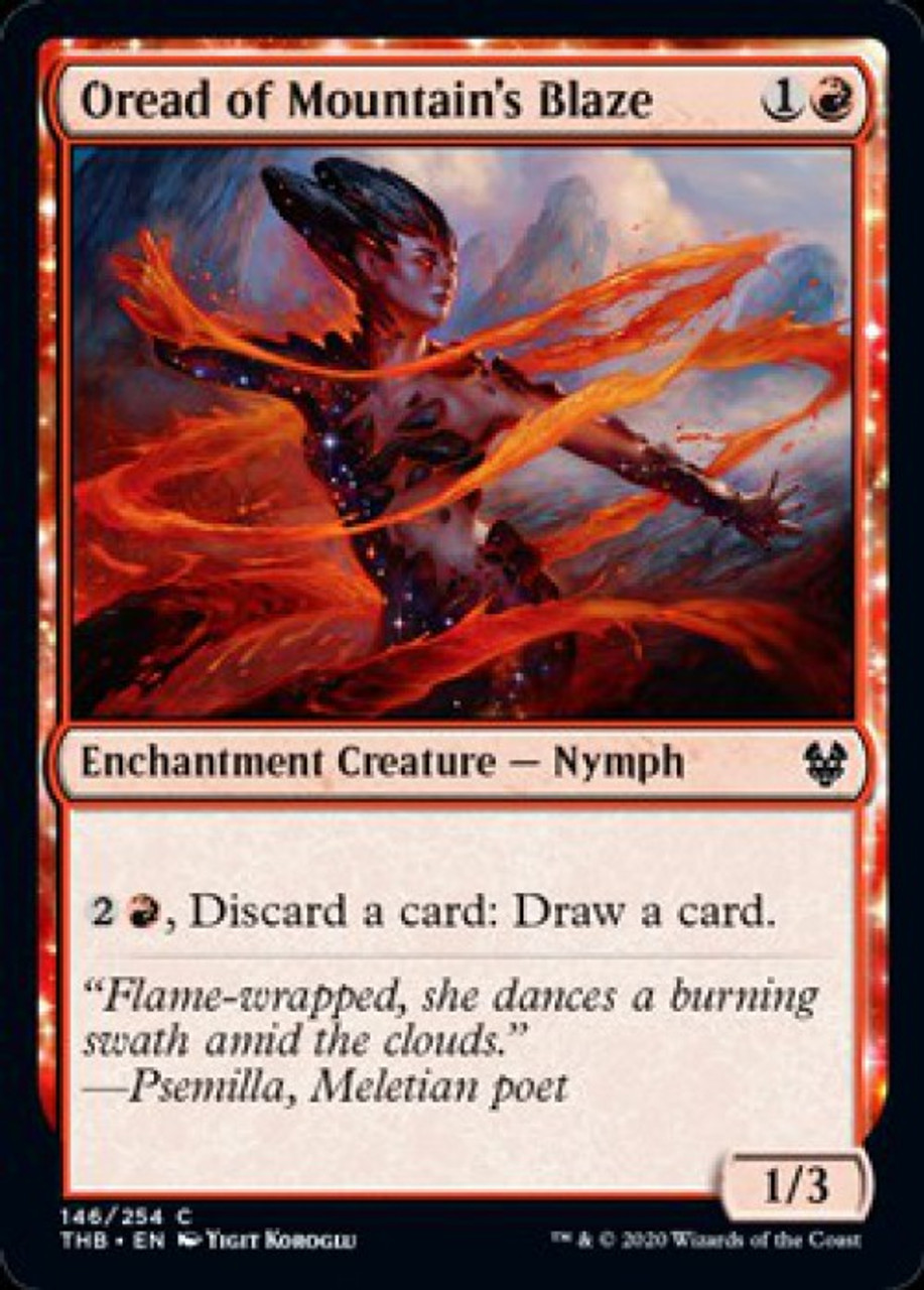 FULL ART NYX NM In hand Theros Beyond Death Basic Land FOIL Mountain