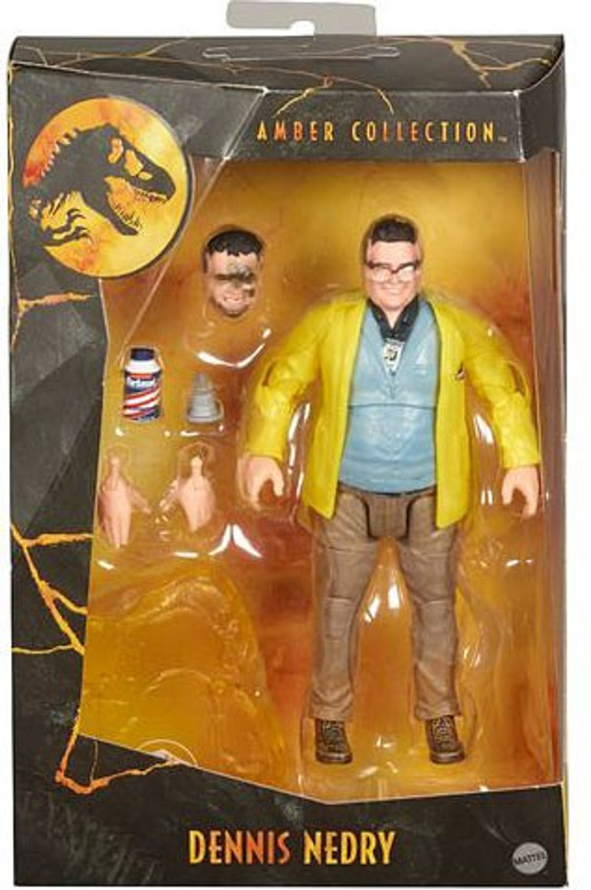 Jurassic World Amber Collection Dennis Nedry 6 5 Action Figure Mattel Toywiz