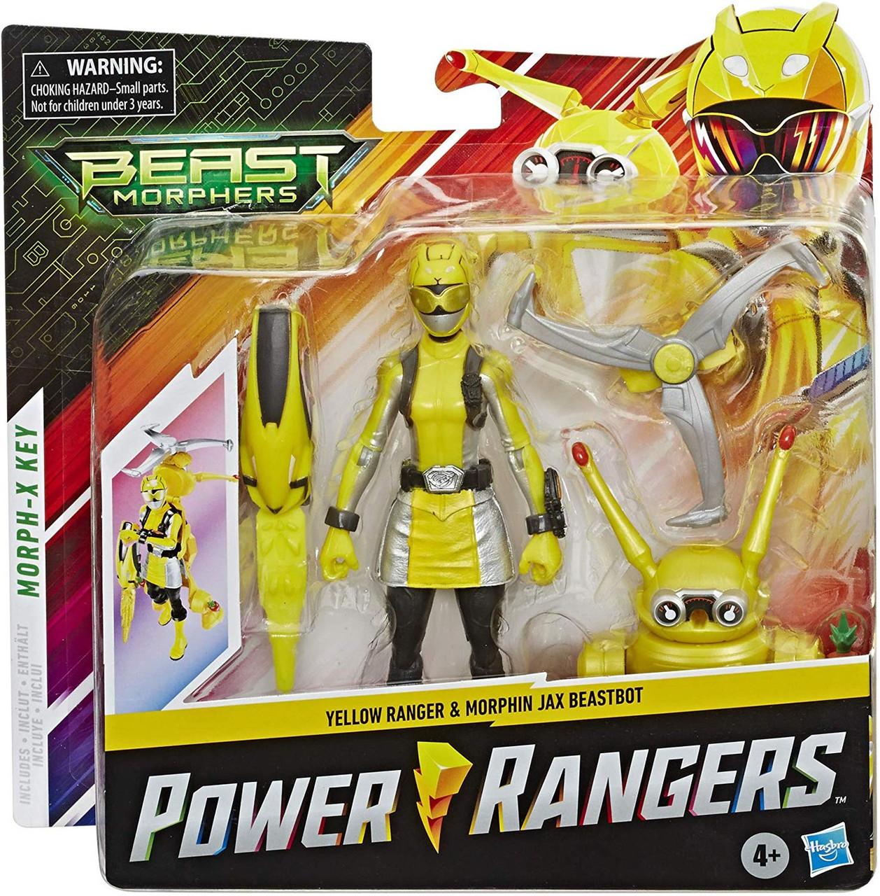 Power Rangers Beast Morphers Yellow Ranger Morphin Jax Beastbot