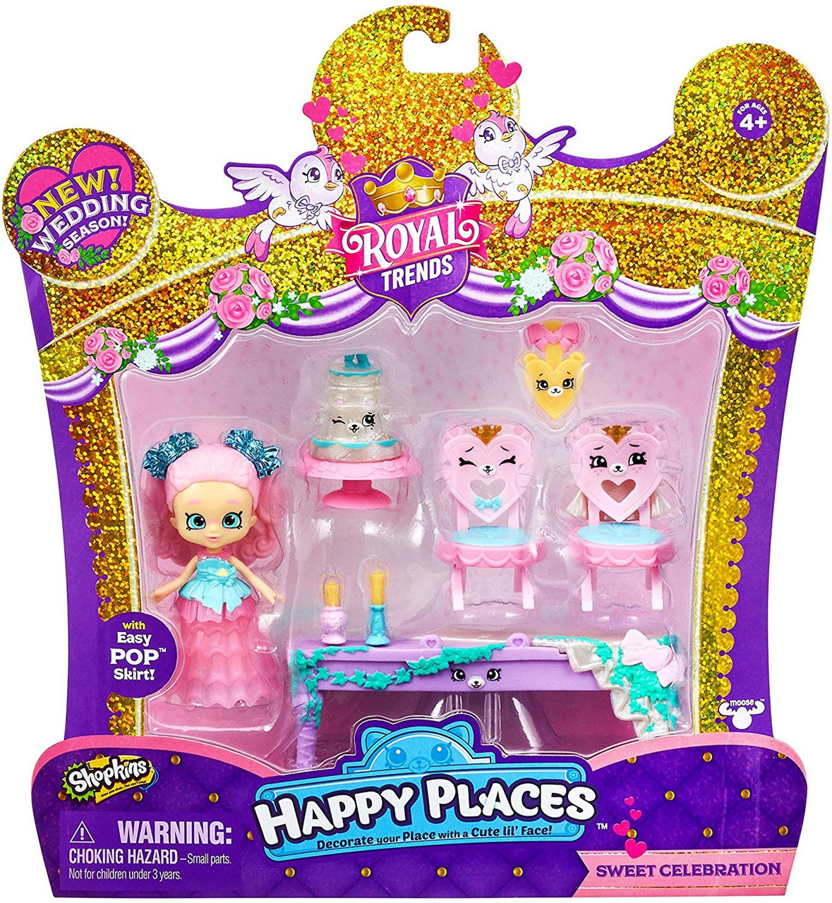 Shopkins Happy Places Royal Trends Squirrel Palace Party Welcome Pack NEW