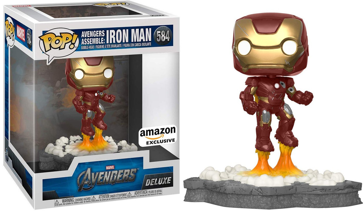 Iron Man Simulator Roblox How To Get War Machine Funko Marvel Avengers Pop Deluxe Iron Man Exclusive Vinyl Bobble Head 584 Avengers Assemble 1 Toywiz