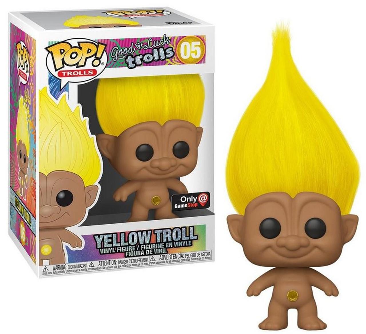 """Collectible  Wild Hair  4/"""" Trump Wild Blond Hair Troll Doll"""
