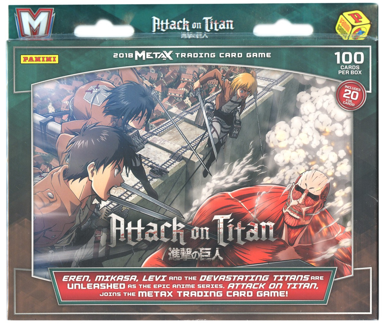 Attack On Titan 2018 Metax Trading Card Game Trading Card Game Panini Toywiz