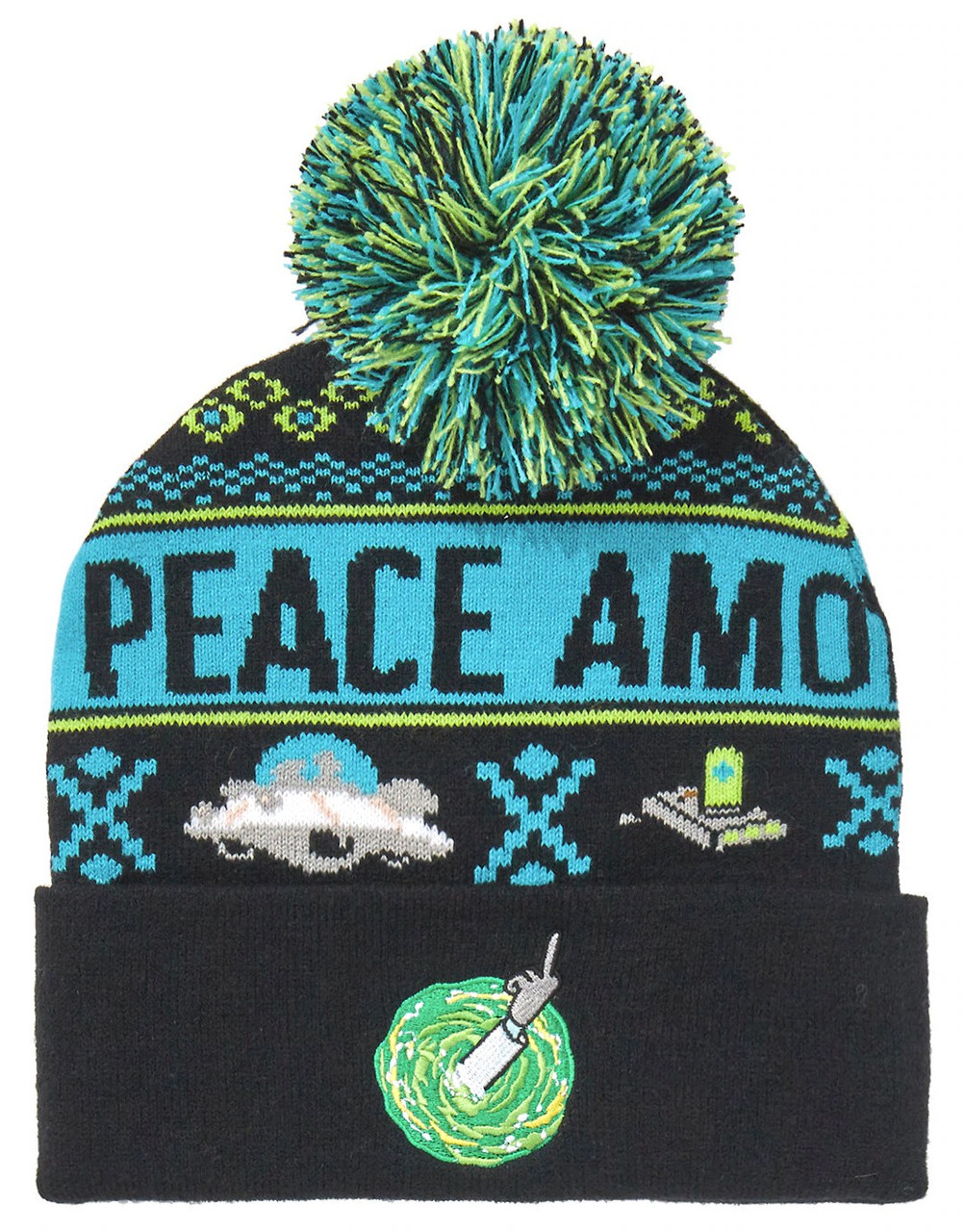 Rick Morty Peace Among Worlds Beanie Hat Bioworld Toywiz