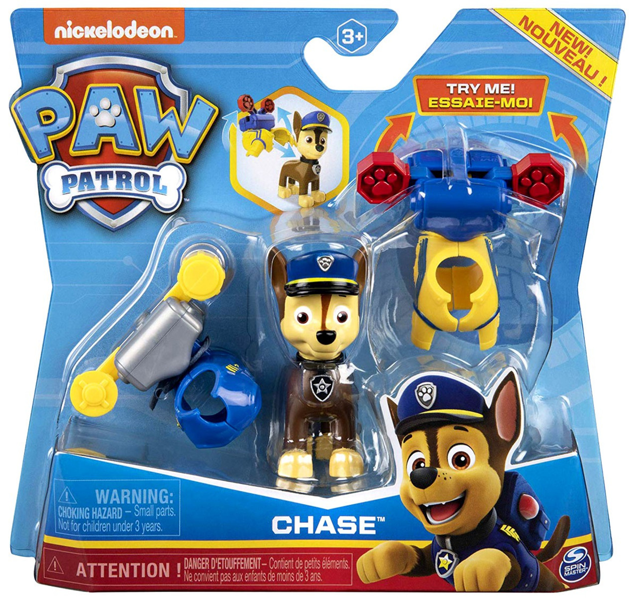 Paw Patrol Chase Figure 2 Clip On Backpacks Damaged Package Spin Master Toywiz