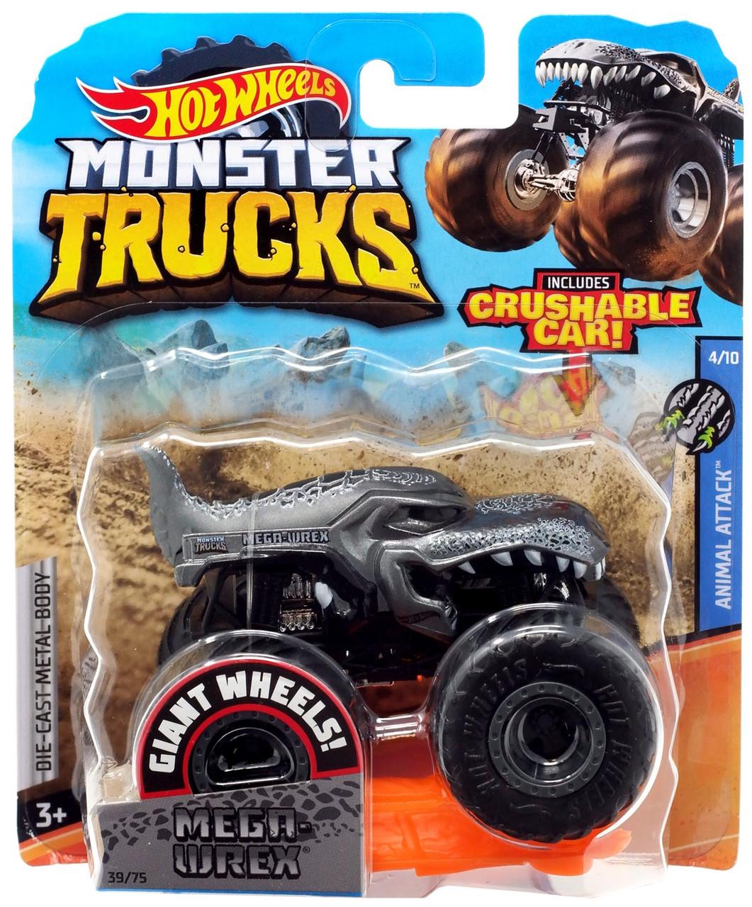Hot Wheels Monster Trucks Animal Attack Mega Wrex 164 Diecast Car 410 Mattel Toys Toywiz