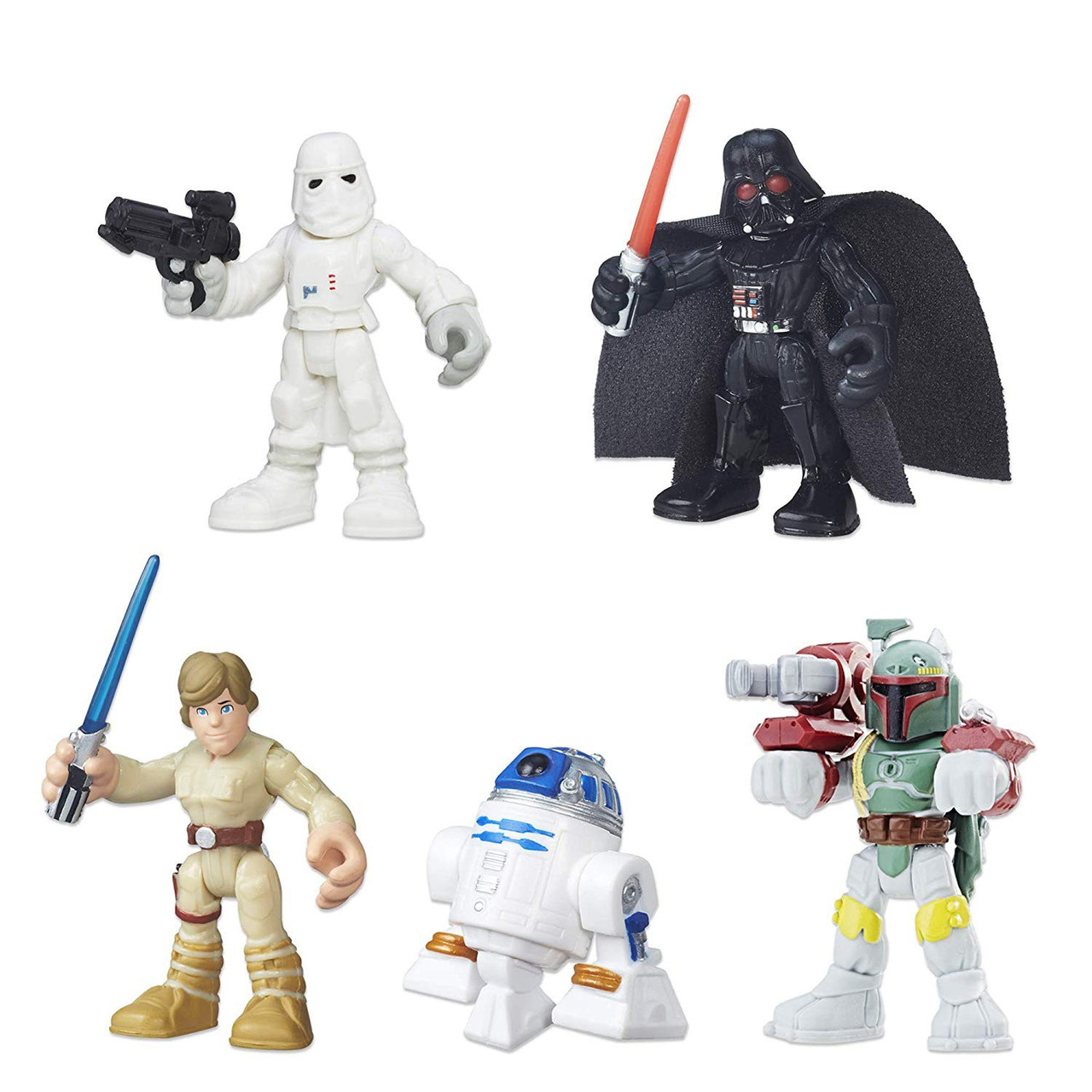 Darts Vader R2D2 Star Wars Jedi Force 3 action mini figures Obi-Wan