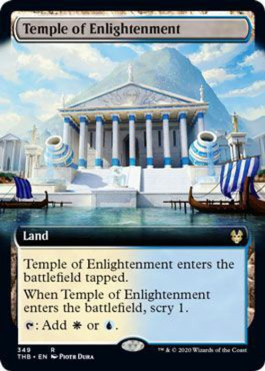 FOIL TEMPLE OF ENLIGHTENMENT Theros Beyond Death THB Magic MTG MINT CARD