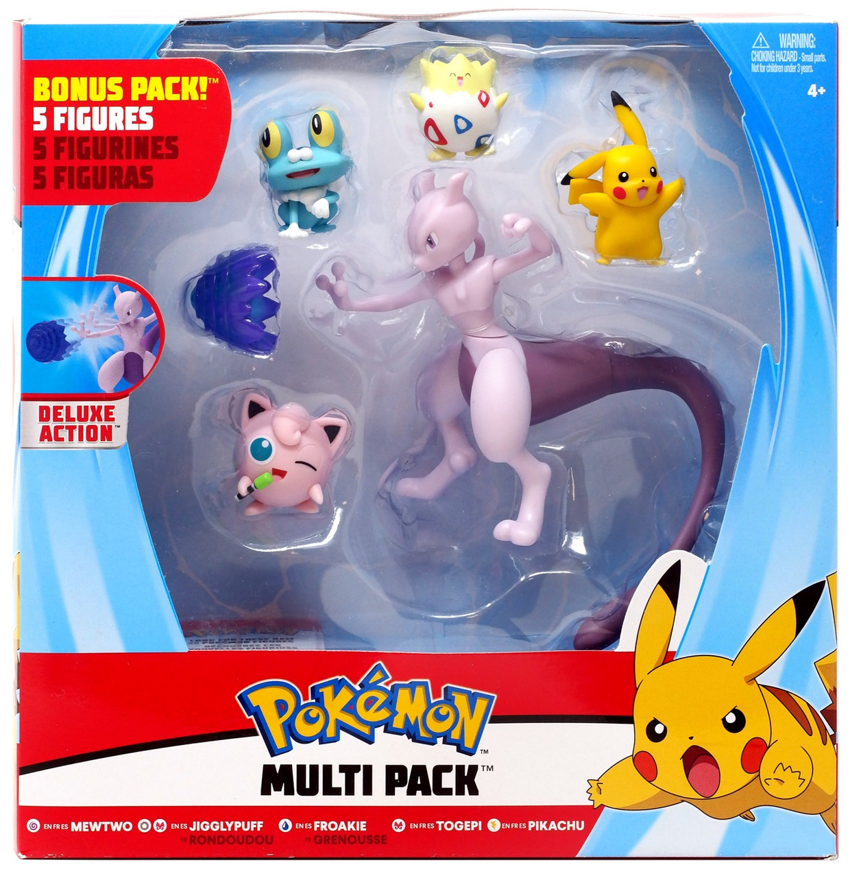 My Little Pony Pikachu Roblox Pokemon Mewtwo Jigglypuff Froakie Togepi Pikachu Exclusive 3 Multi Figure 5 Pack Wicked Cool Toys Toywiz