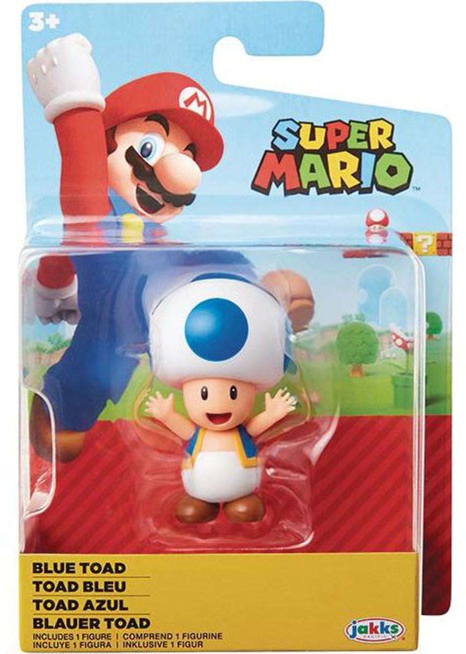 World Of Nintendo Super Mario Blue Toad 2 5 Mini Figure Jakks