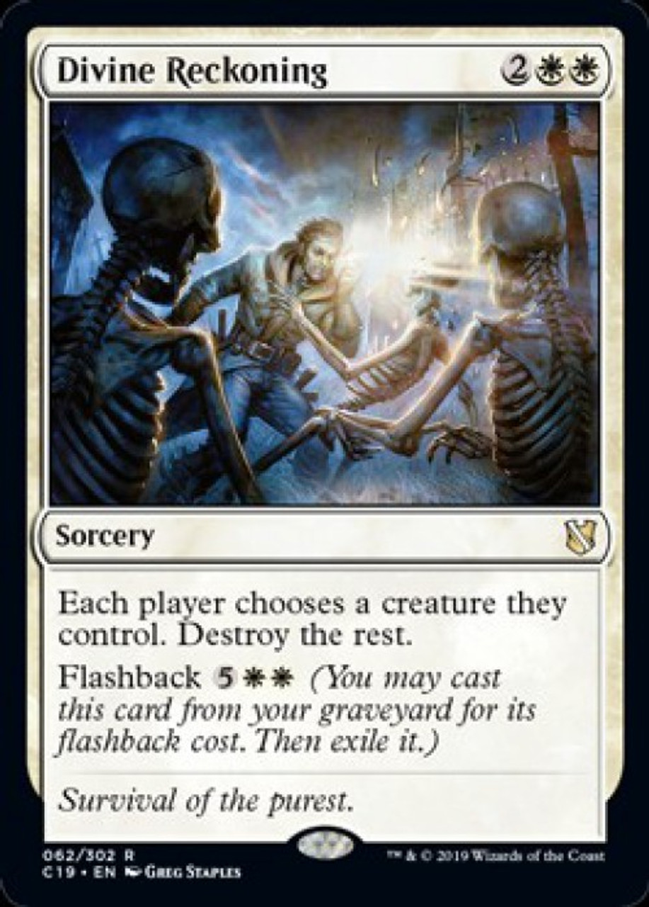 NM Commander 2019 MTG White Rare Hour of Reckoning