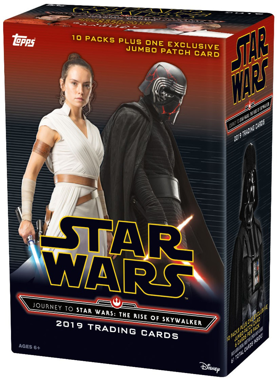 Star Wars Journey To Star Wars The Rise Of Skywalker Trading Card Blaster Box 10 Packs 1 Jumbo Patch Card Topps Toywiz