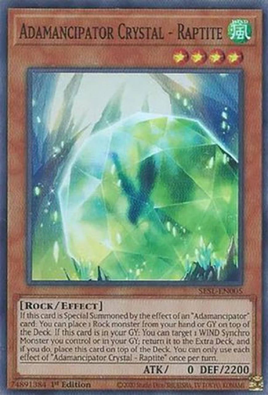 Dragite - Super Rare Adamancipator Crystal SESL-EN006 1st Edition