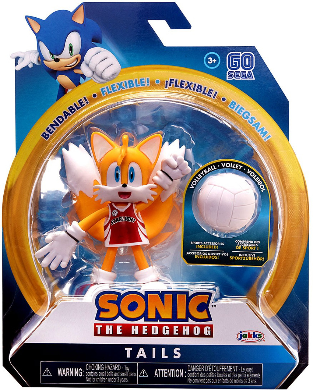 Sonic The Hedgehog 2020 Series 3 Tails 4 Action Figure Volleyball Jakks Pacific Toywiz