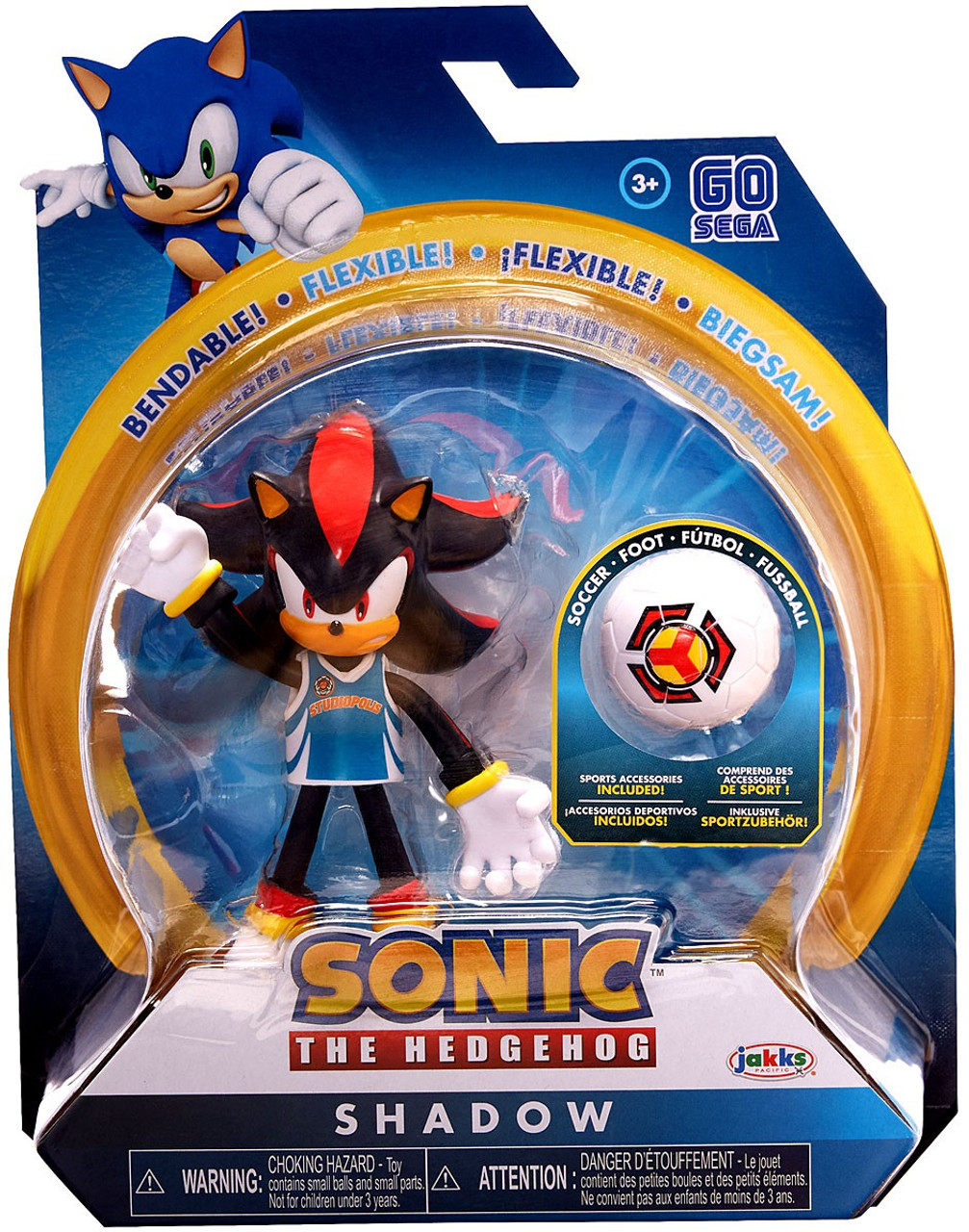 Sonic The Hedgehog Basic Series 3 Rugby Shadow 4 Action Figure Jakks Pacific Toywiz