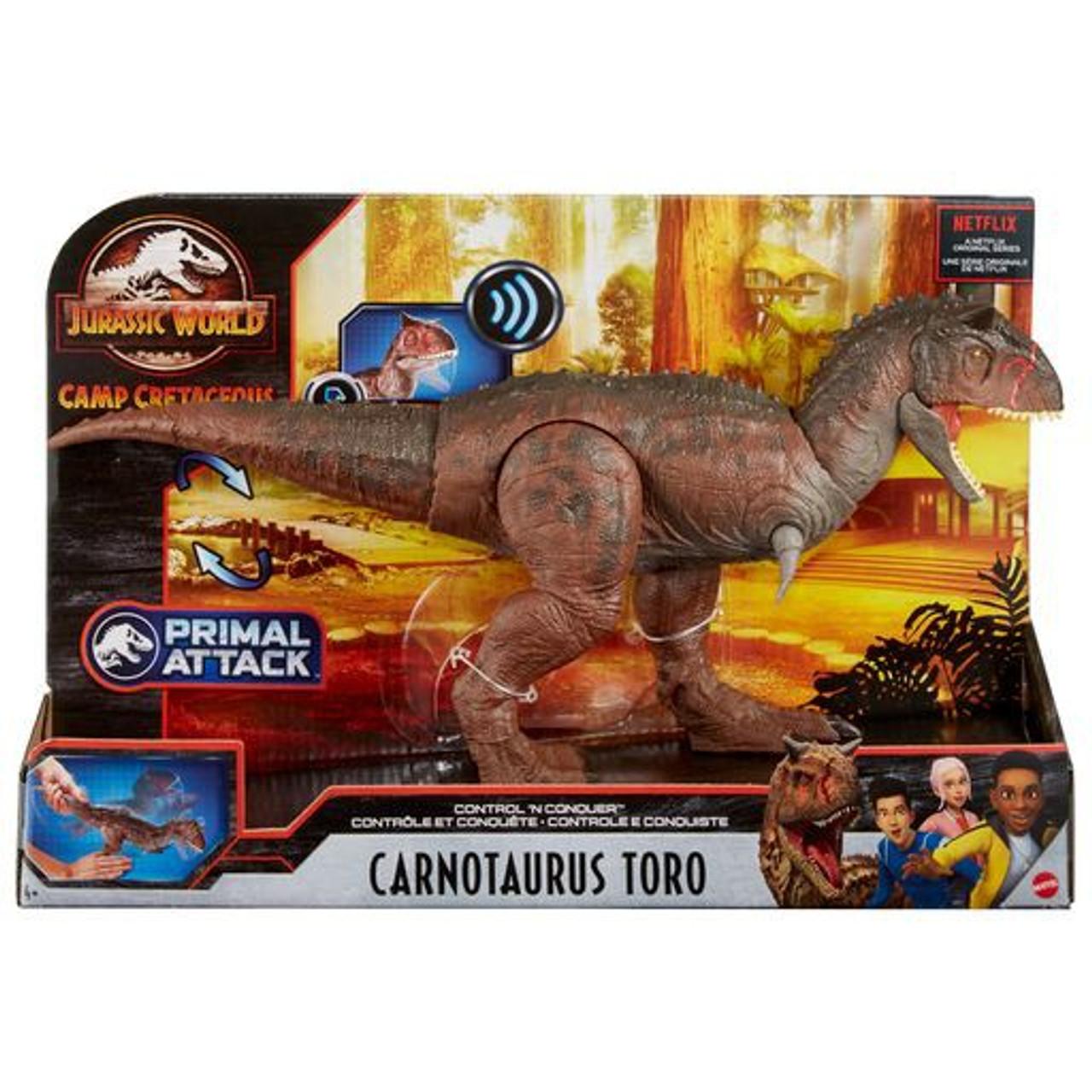 Jurassic World Camp Cretaceous Control N Conquer Carnotaurus Toro Action Figure Mattel Toywiz Enter the world's most incredible adventure camp: jurassic world