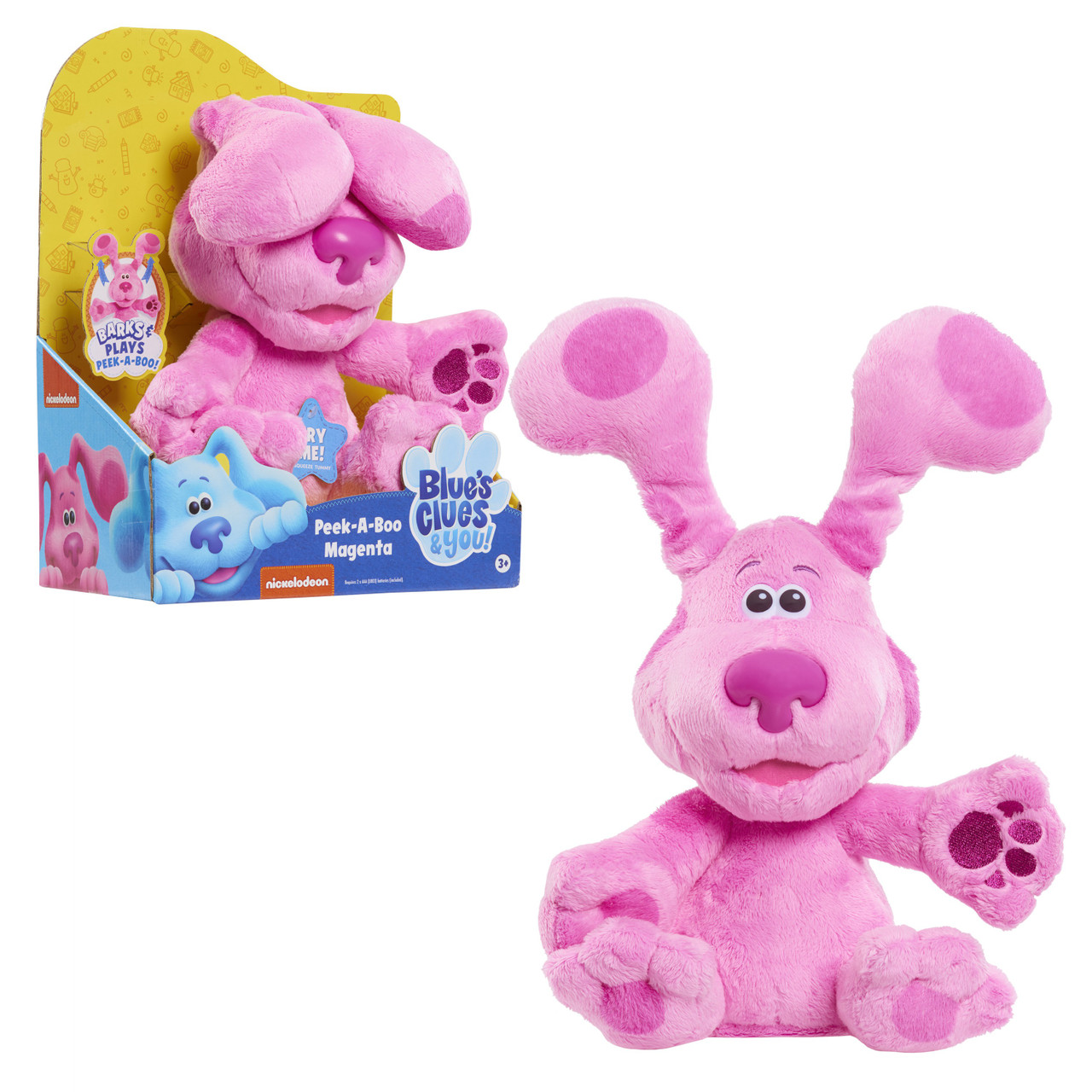 ARRIVES BY CHRISTMAS! Peek-A-Blue10-inch Interactive Puppy Blue's Clues /& You