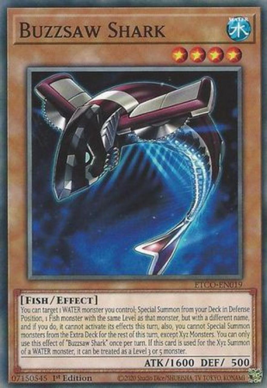 Buzzsaw Shark  ETCO-EN019 Common 3X Eternity Code YU-GI-OH