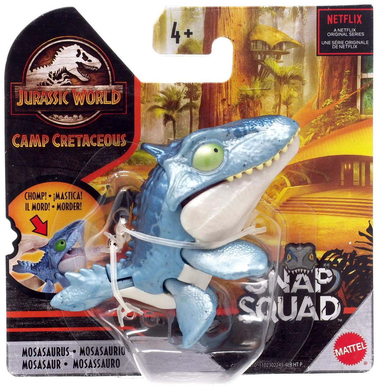 New Update Juracic World Roblox Jurassic World Camp Cretaceous Snap Squad Mosasaurus Mini Figure Netflix Version Mattel Toys Toywiz