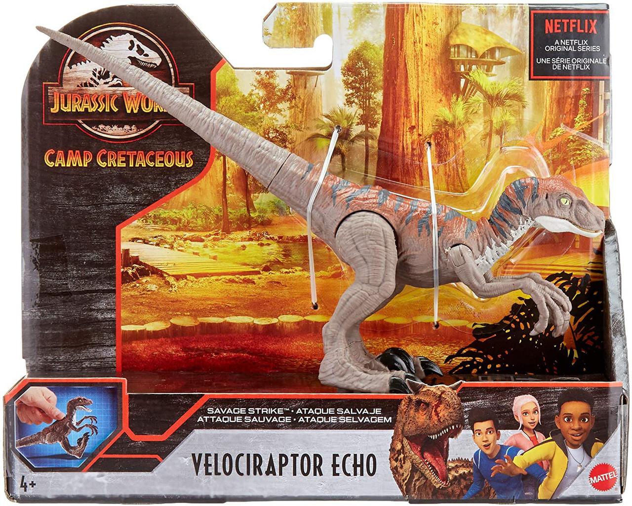 Jurassic World Camp Crétacé Savage Strike Velociraptor Echo Action Figure