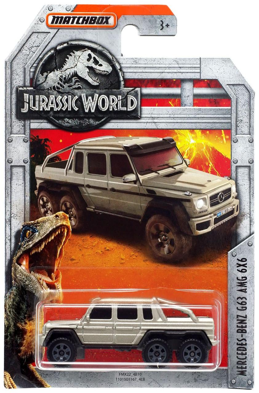 Jurassic World Matchbox Mercedes Benz G63 Amg 6x6 164 Diecast Car Mattel Toywiz