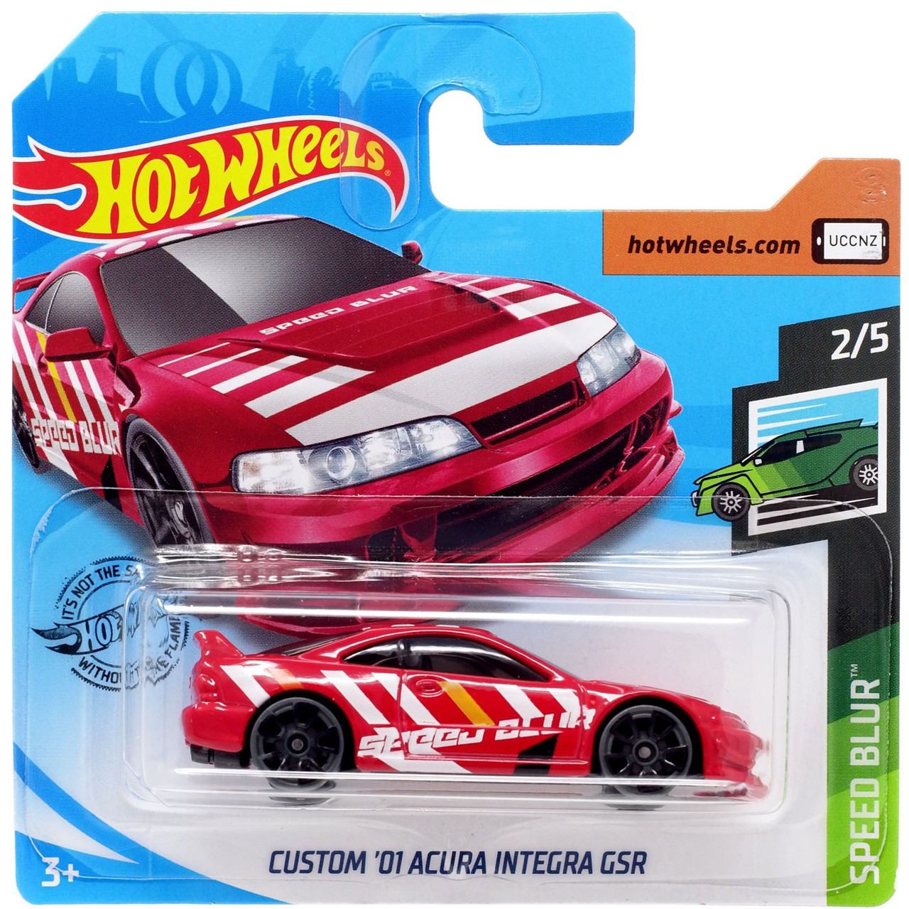 Hot Wheels Speed Blur Custom 01 Acura Integra Gsr 164 Diecast Car 25 Short Card Mattel Toys Toywiz