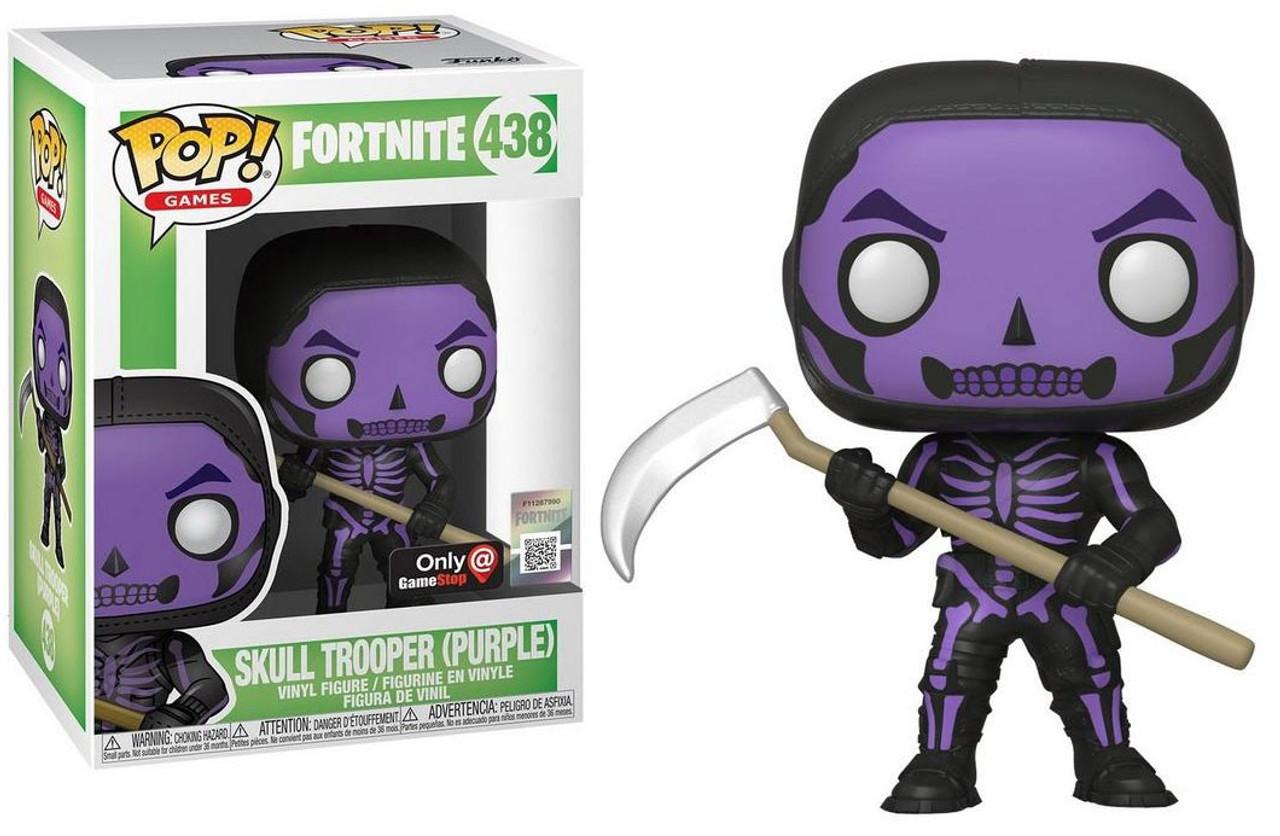 Pop Mini Figures Fortnite Funko Fortnite Pop Games Skull Trooper Exclusive Vinyl Figure 438 Purple Toywiz