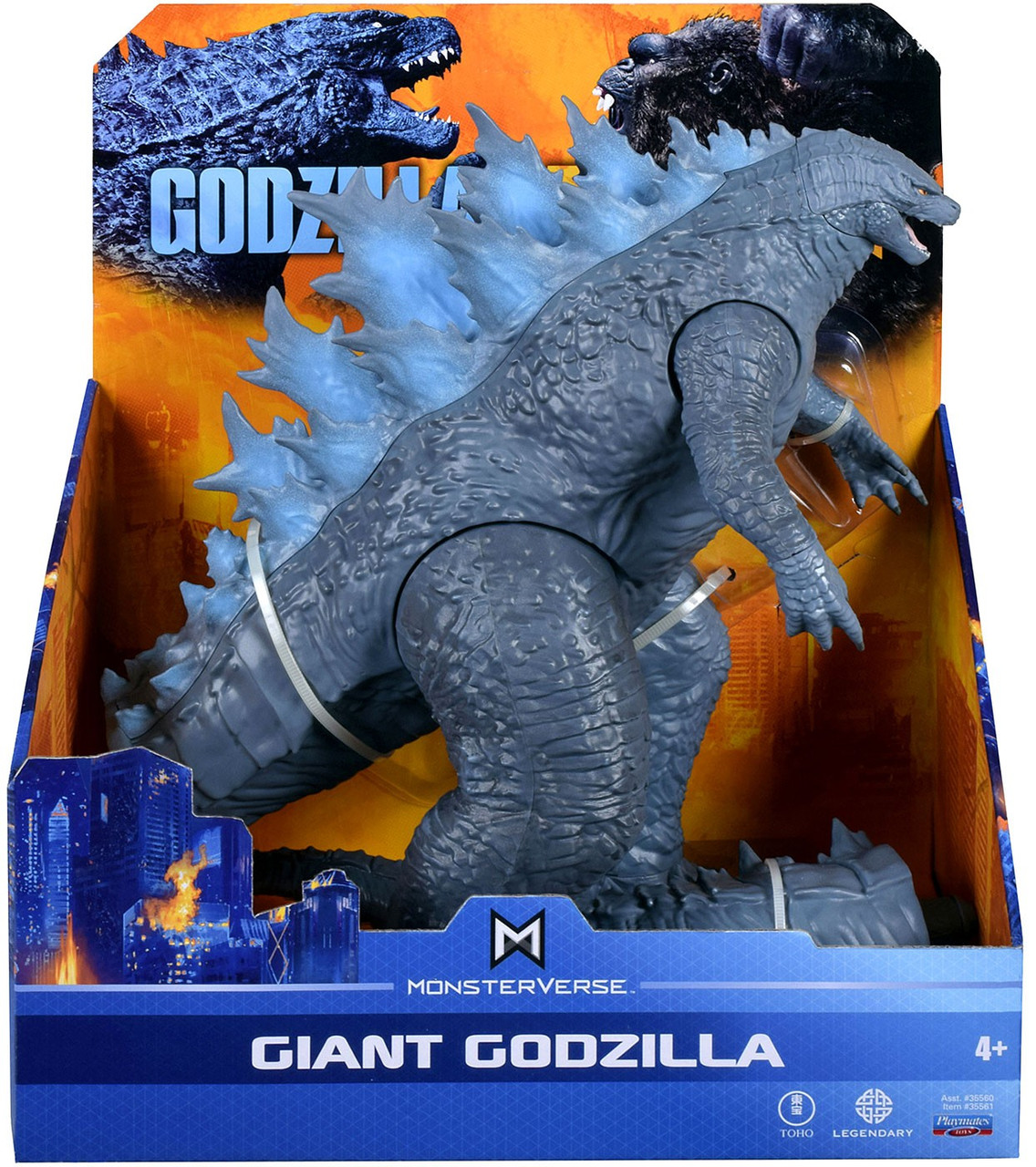 Godzilla Vs Kong Monsterverse Giant Godzilla Exclusive 11 Action Figure Playmates Toywiz